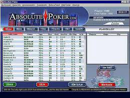 Лобби покер рума Absolute Poker