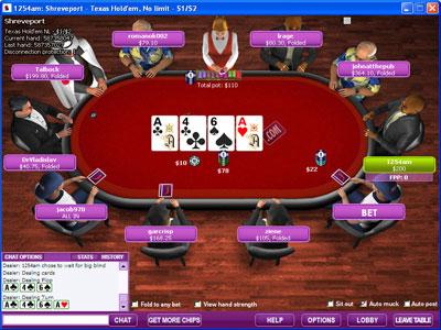 Вид игрового стола на Chili Poker