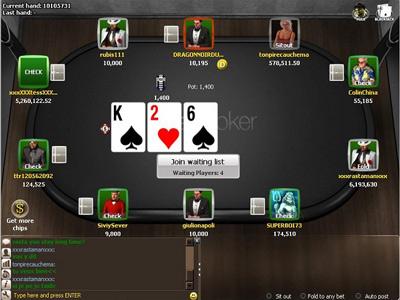 Titan Poker - Вид игрового стола.