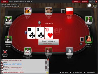 Вид игрового стола на Winner Poker.